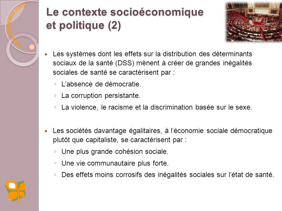 Le contexte socioéconomique et politique (2)