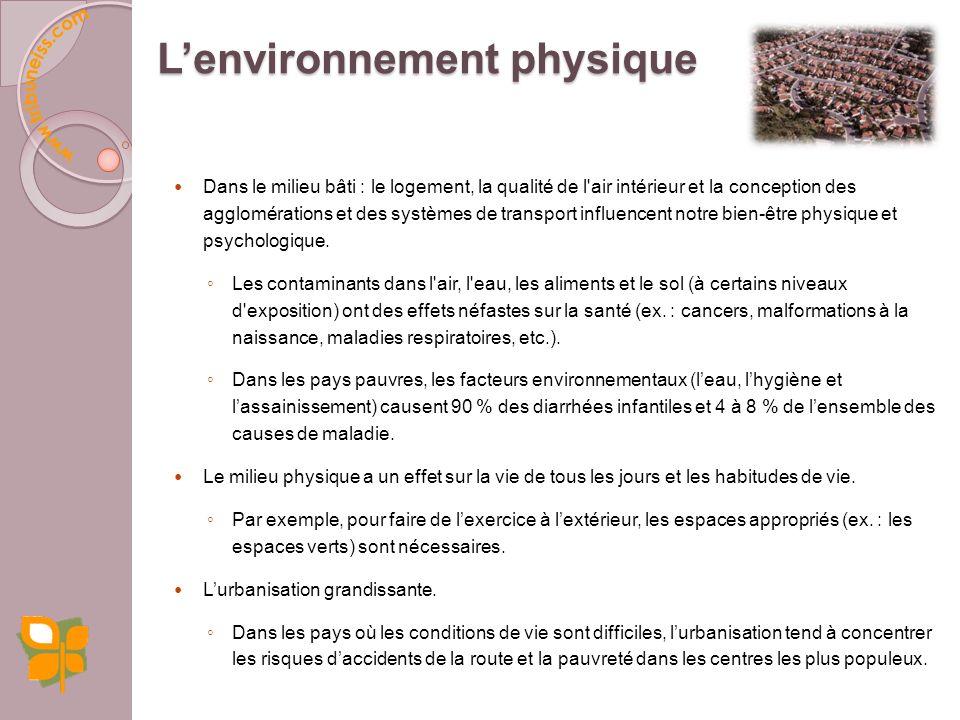 L'environnement physique