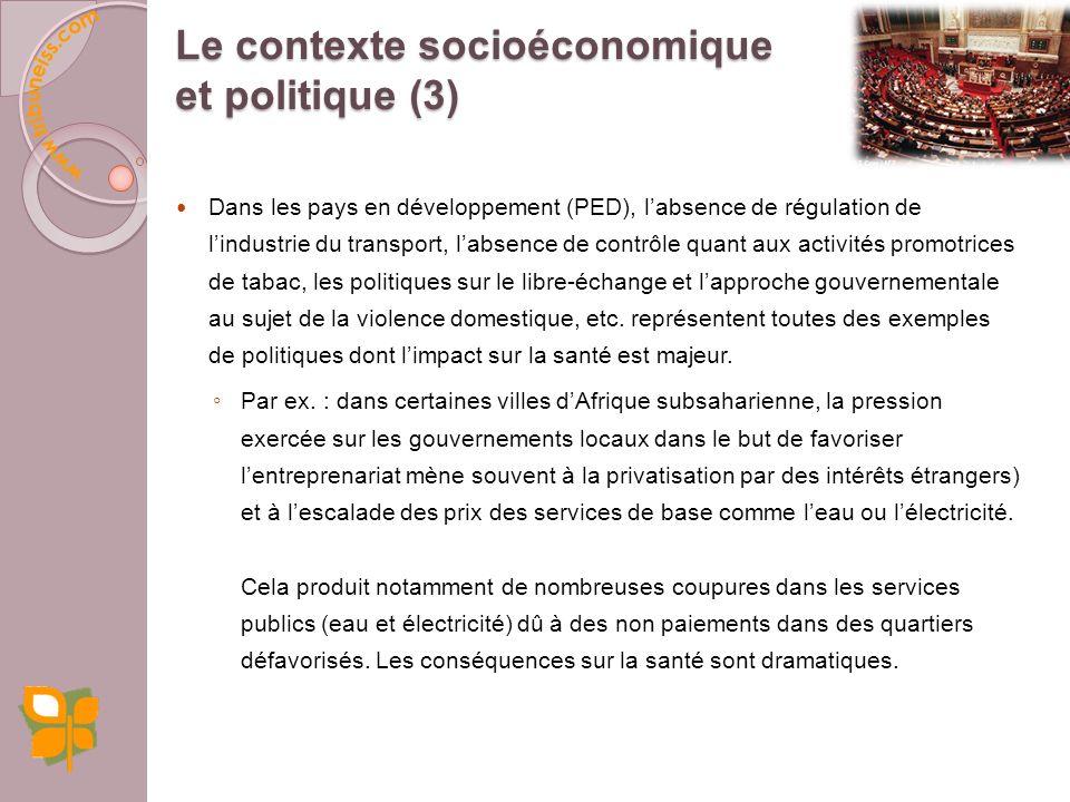 Le contexte socioéconomique et politique (3)