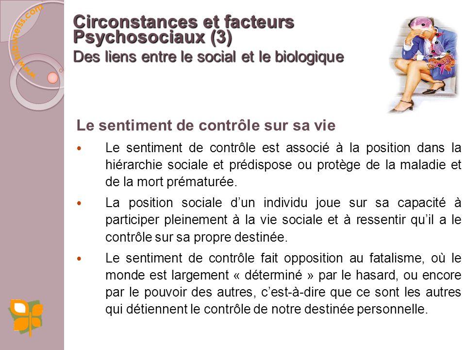 Circonstances et facteurs Psychosociaux (3)