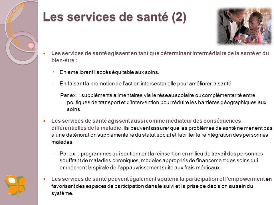 Les services de santé (2)