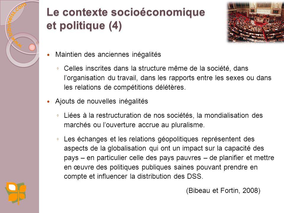 Le contexte socioéconomique et politique (4)
