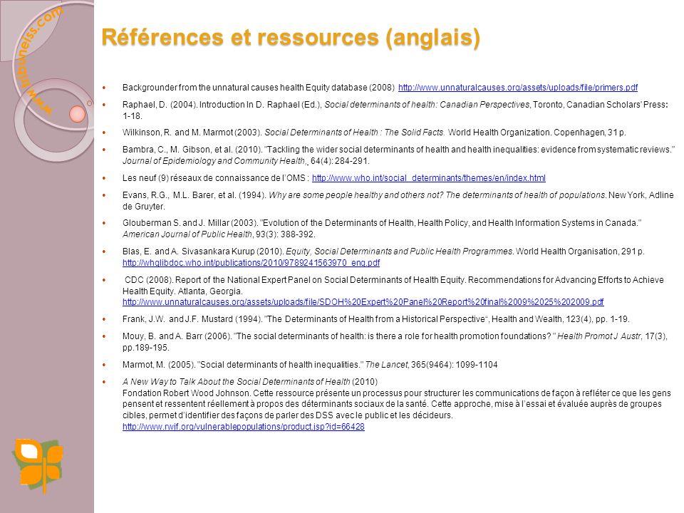 Références et ressources (anglais)