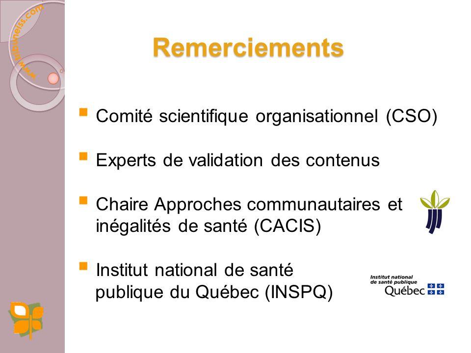 Remerciements Comité scientifique organisationnel (CSO)