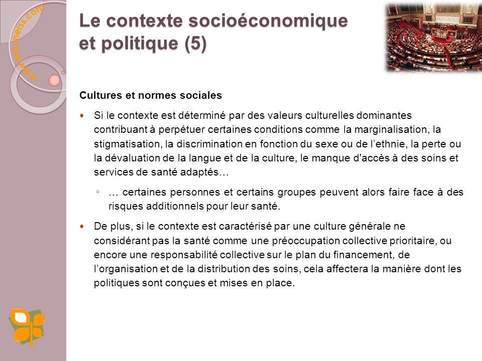 Le contexte socioéconomique et politique (5)