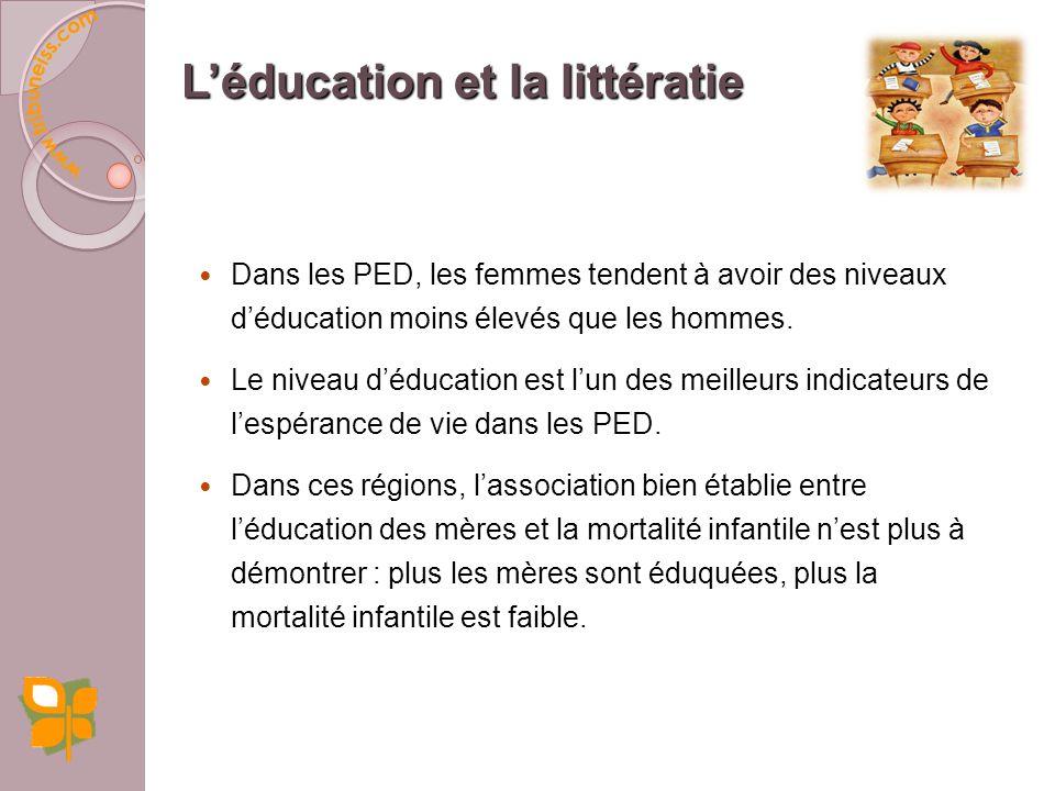 L'éducation et la littératie