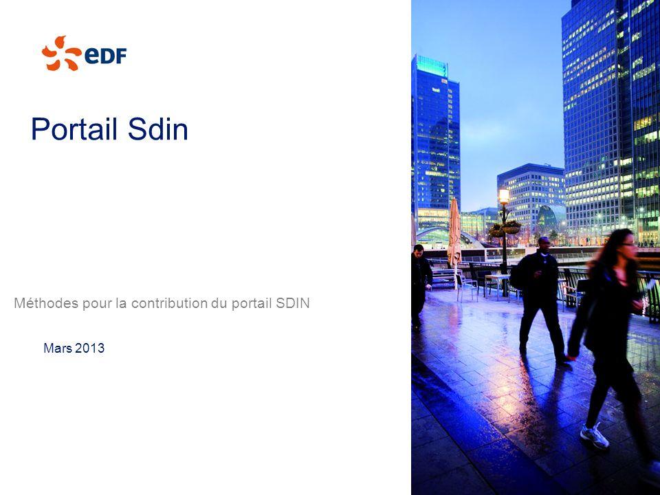 Portail Sdin Méthodes pour la contribution du portail SDIN Mars 2013