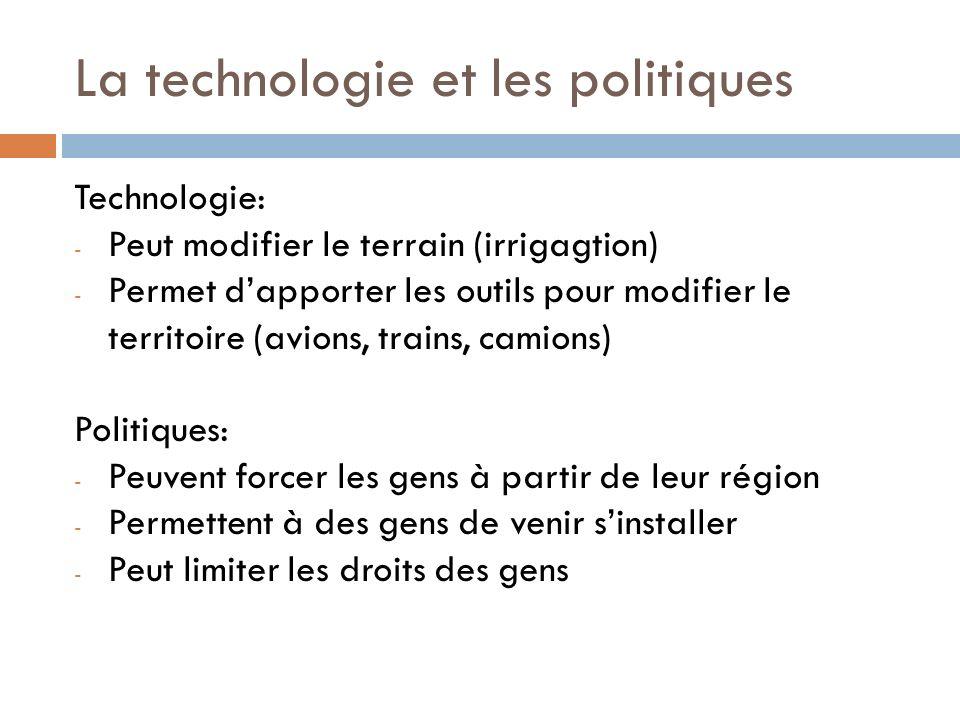 La technologie et les politiques