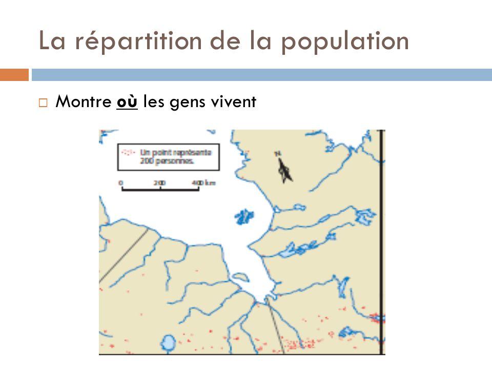 La répartition de la population
