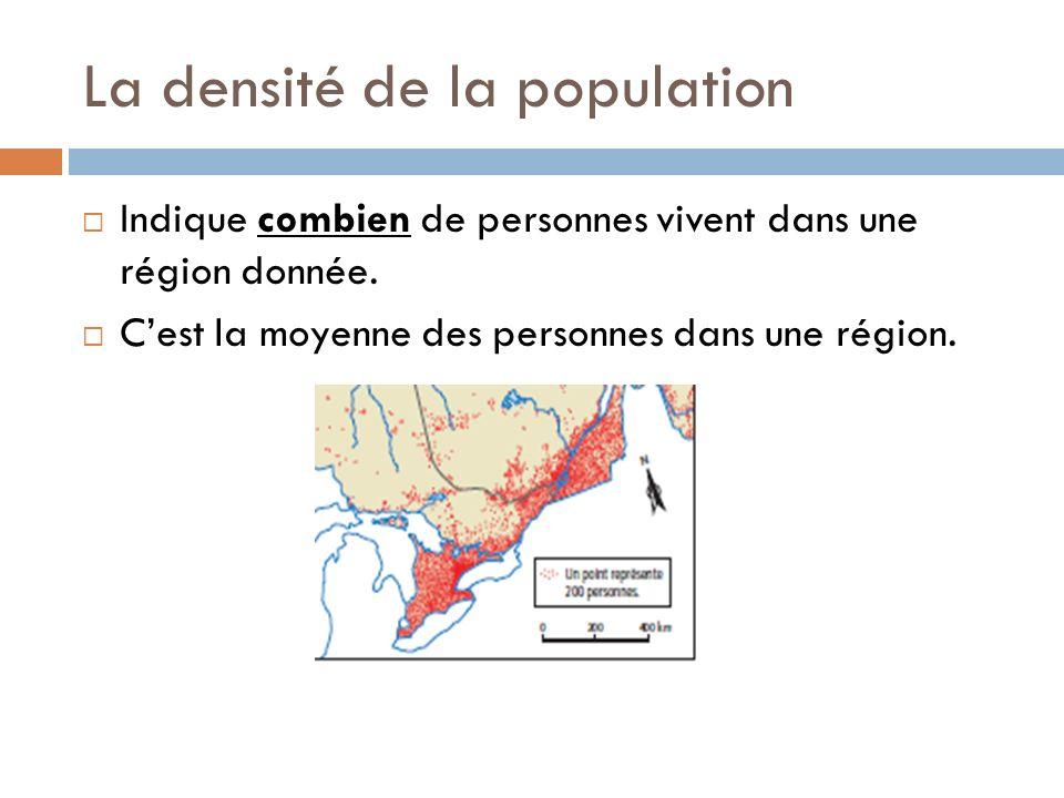 La densité de la population