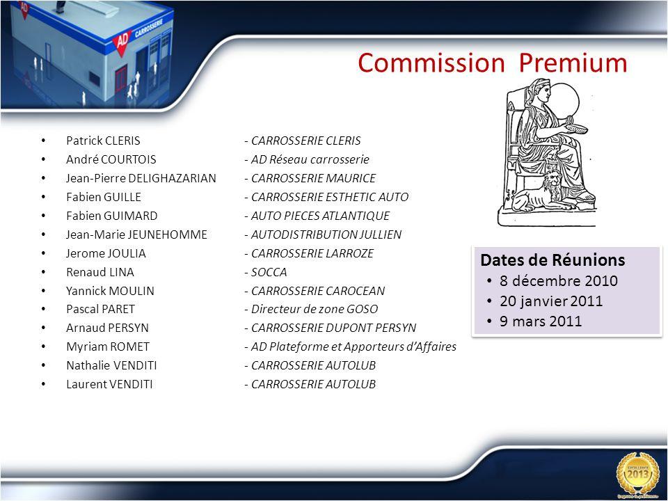 Commission Premium Dates de Réunions 8 décembre 2010 20 janvier 2011