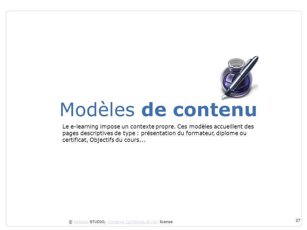 Modèles de contenu
