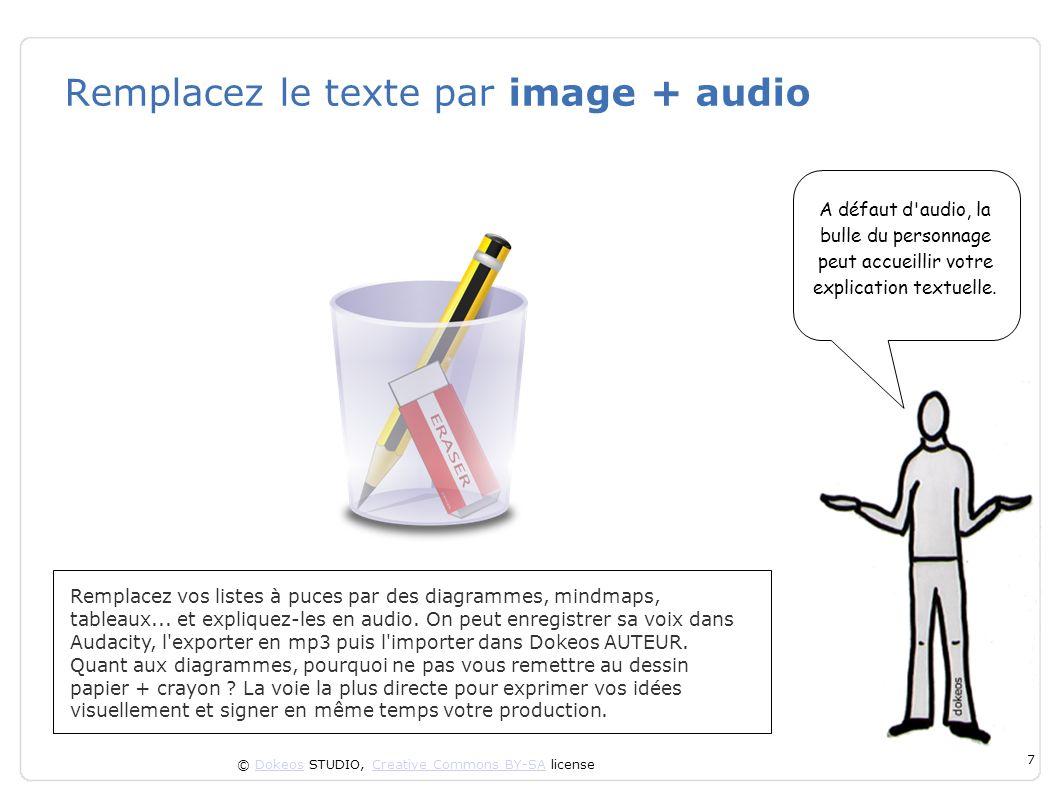 Remplacez le texte par image + audio
