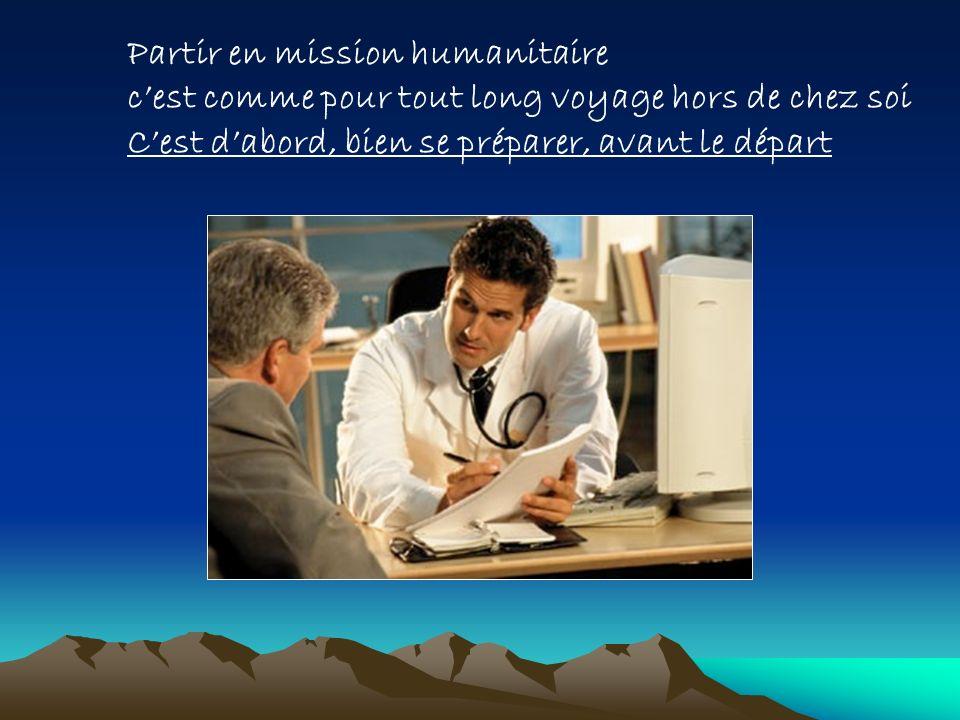 Partir en mission humanitaire