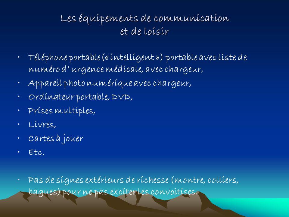 Les équipements de communication et de loisir