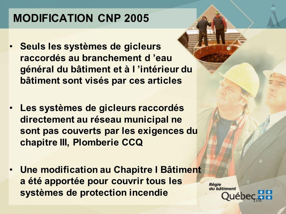MODIFICATION CNP 2005