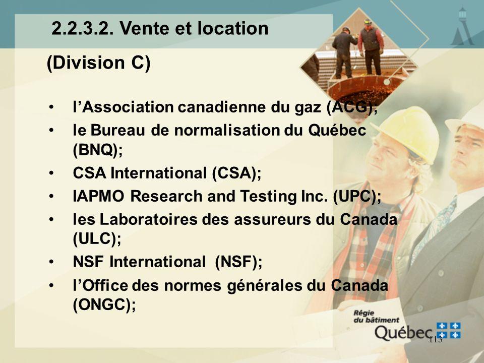 2.2.3.2. Vente et location (Division C)