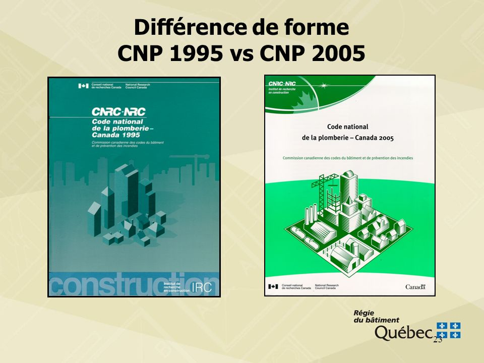 Différence de forme CNP 1995 vs CNP 2005