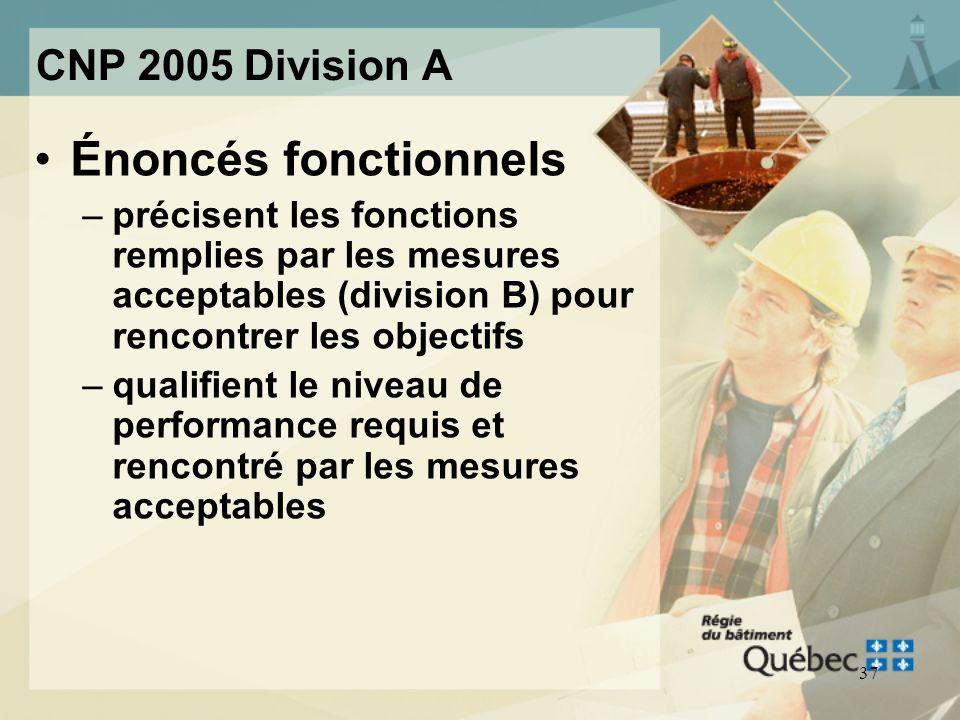 Énoncés fonctionnels CNP 2005 Division A