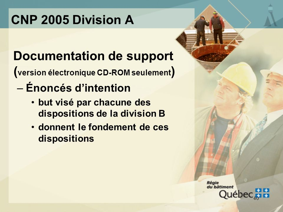 Documentation de support (version électronique CD-ROM seulement)