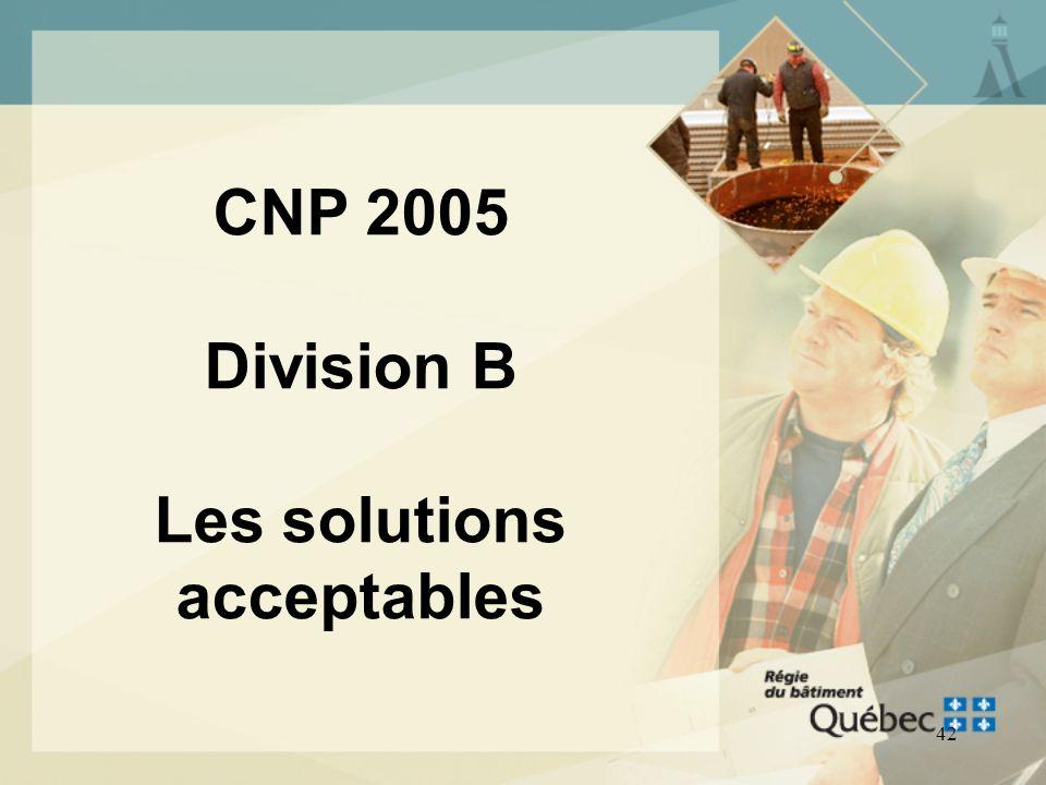 CNP 2005 Division B Les solutions acceptables