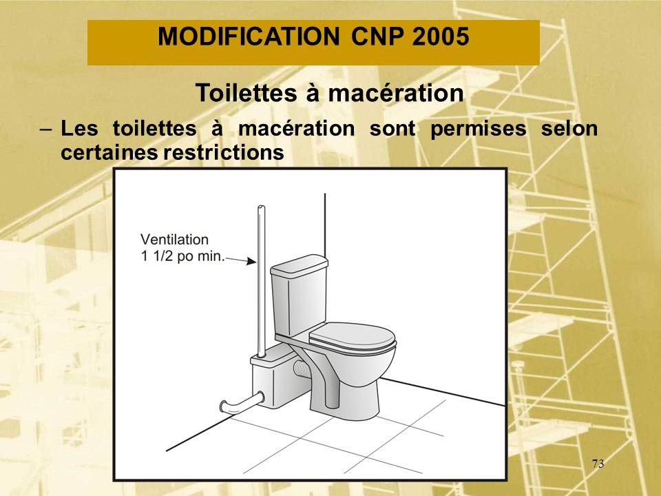 Toilettes à macération