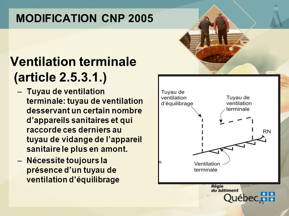 Ventilation terminale (article )