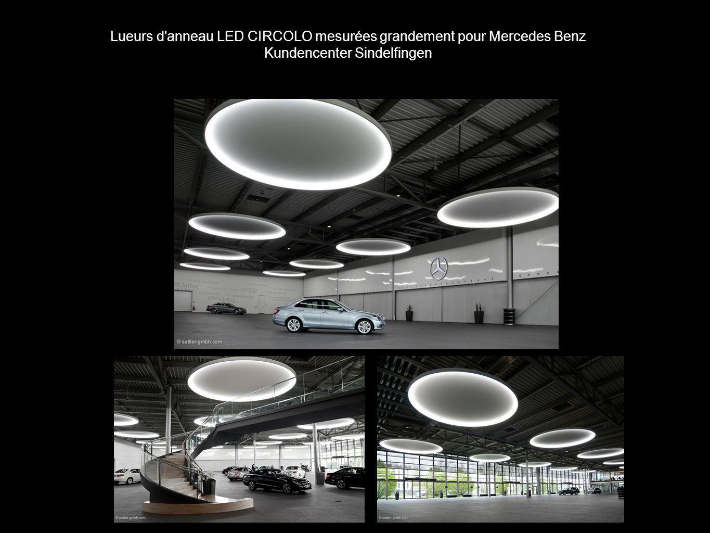Lueurs d anneau LED CIRCOLO mesurées grandement pour Mercedes Benz