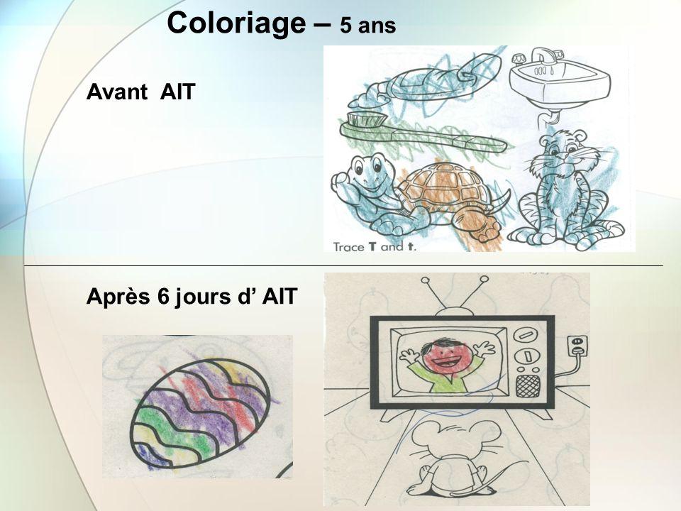 Coloriage – 5 ans Avant AIT Après 6 jours d' AIT