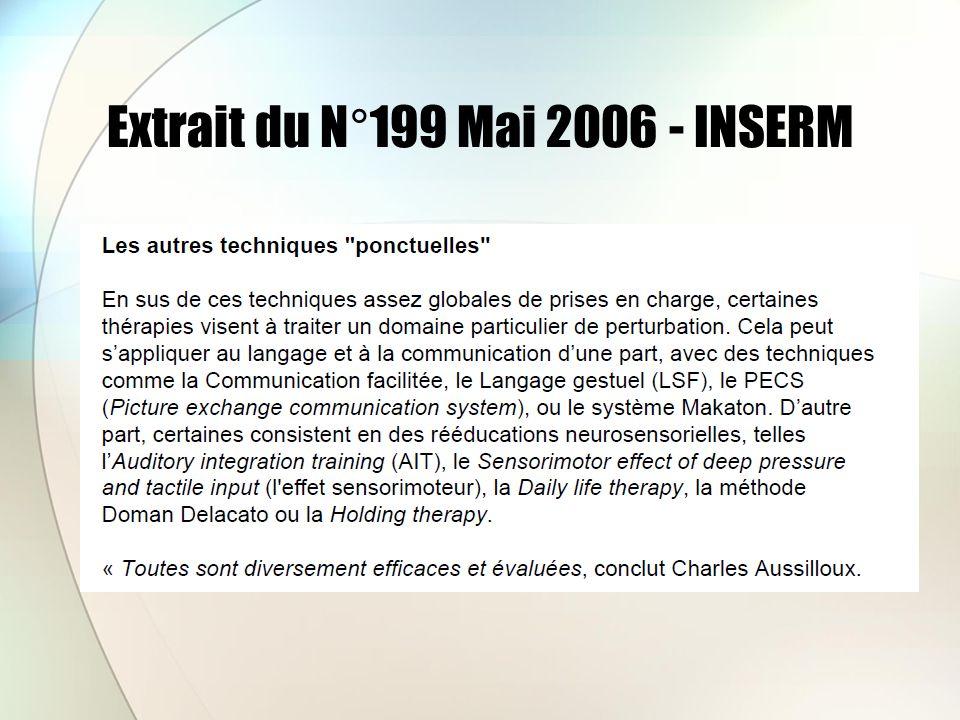 Extrait du N°199 Mai 2006 - INSERM