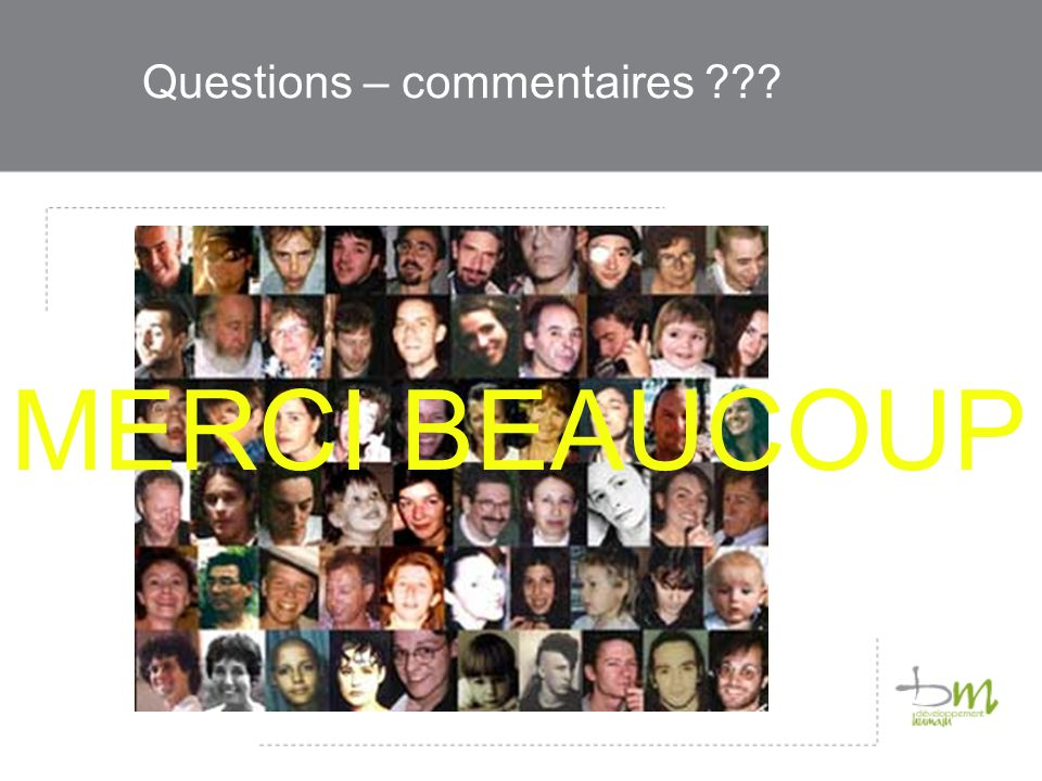 Questions – commentaires