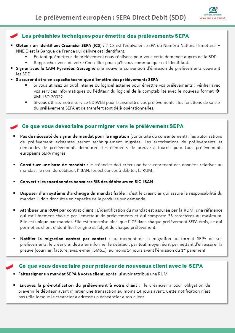 Le prélèvement européen : SEPA Direct Debit (SDD)