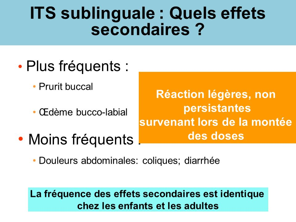 ITS sublinguale : Quels effets secondaires