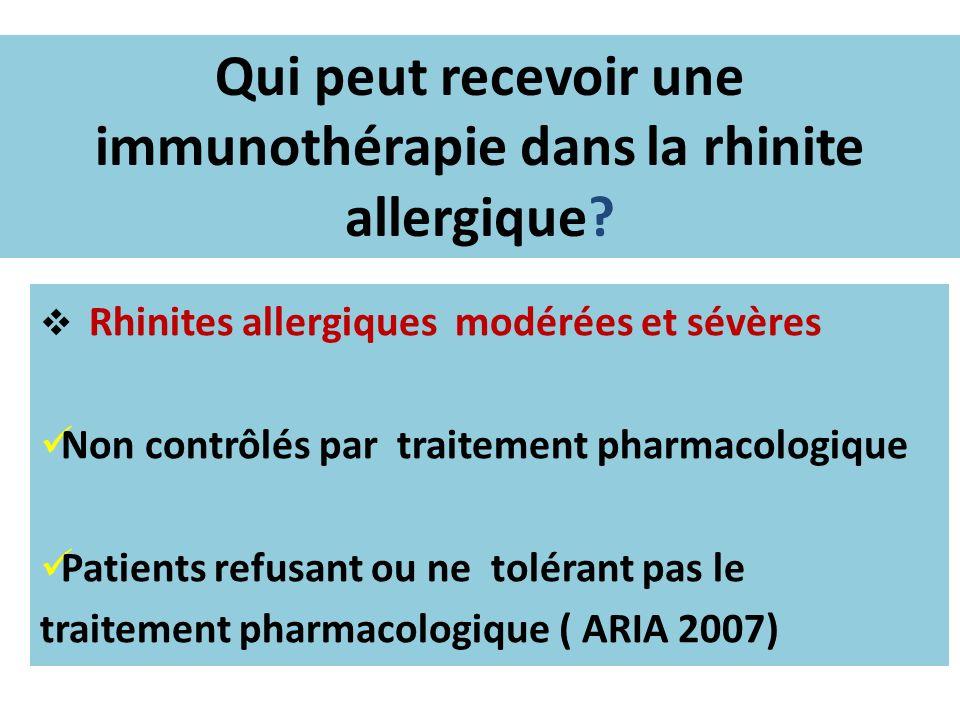 Qui peut recevoir une immunothérapie dans la rhinite allergique