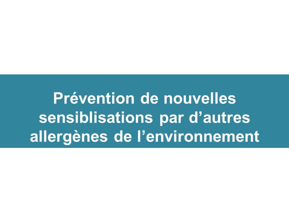 Prévention de nouvelles sensiblisations par d'autres allergènes de l'environnement