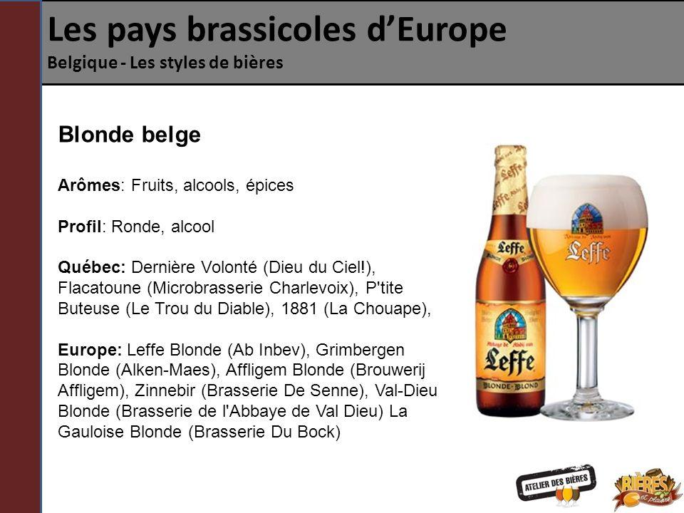 Les pays brassicoles d'Europe Belgique - Les styles de bières