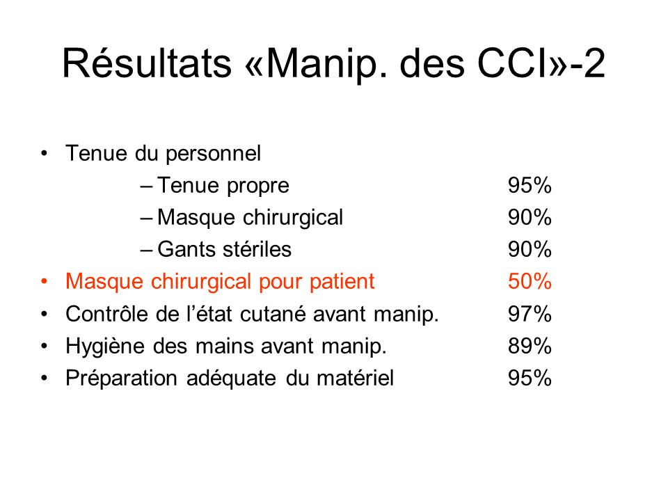 Résultats «Manip. des CCI»-2