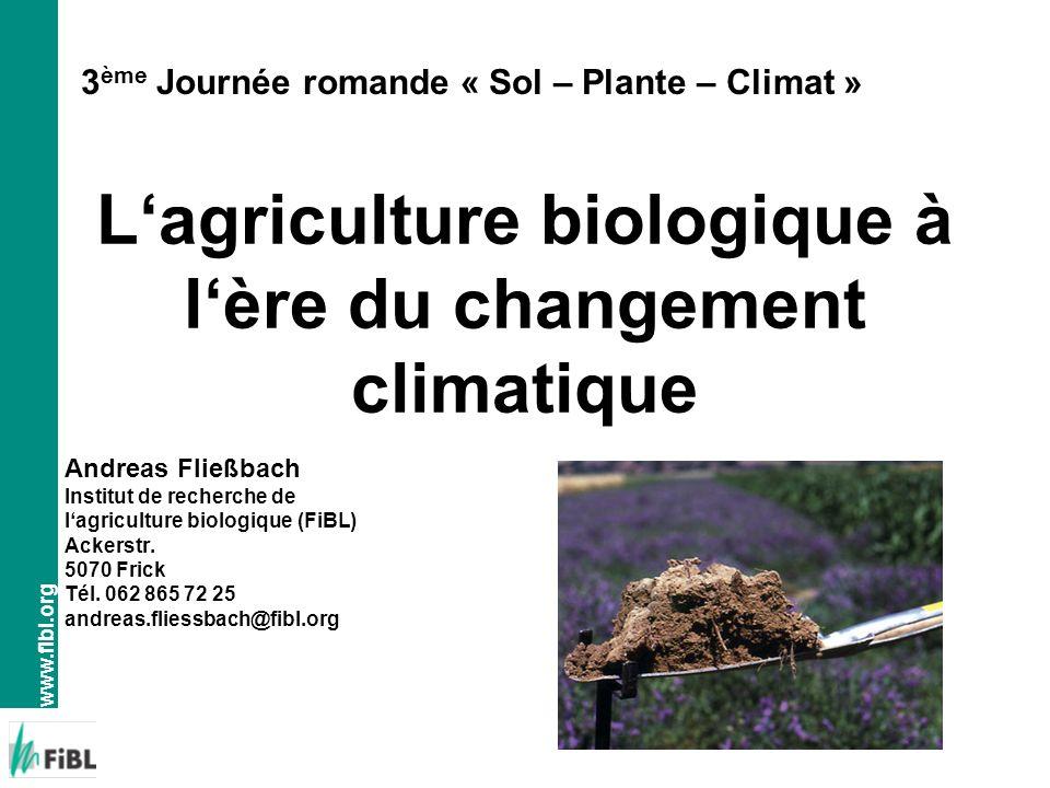 L'agriculture biologique à l'ère du changement climatique