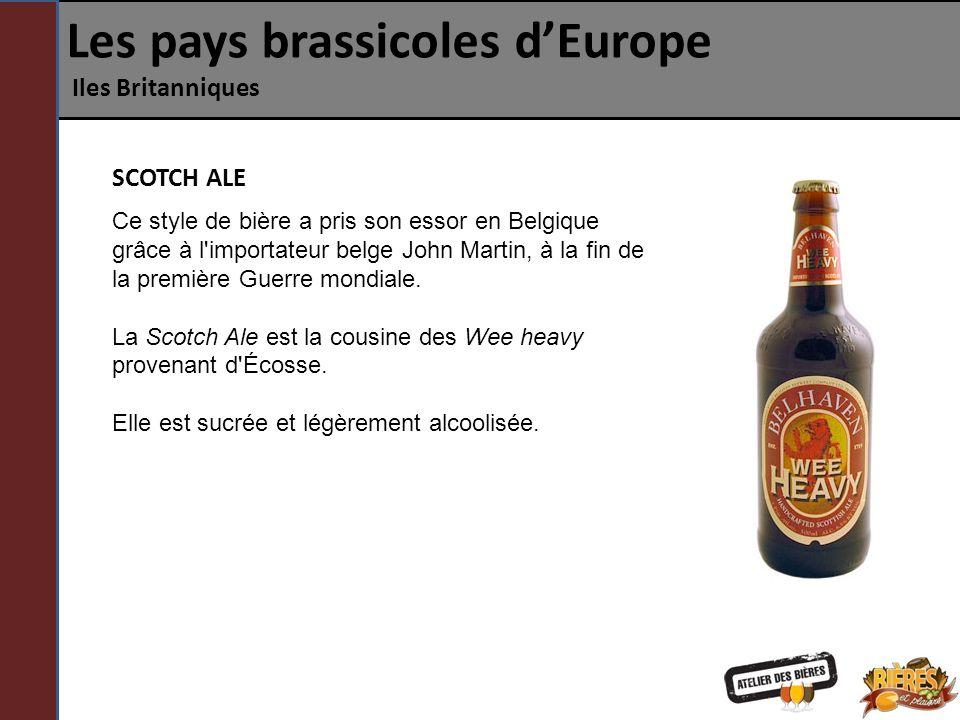 Les pays brassicoles d'Europe Iles Britanniques