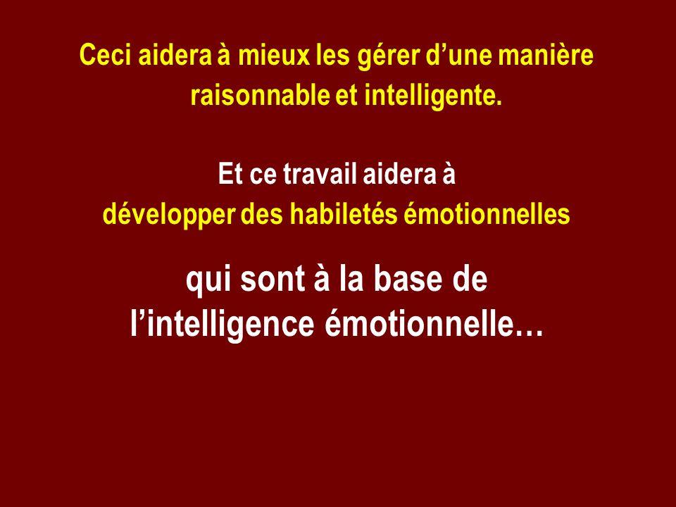 développer des habiletés émotionnelles l'intelligence émotionnelle…