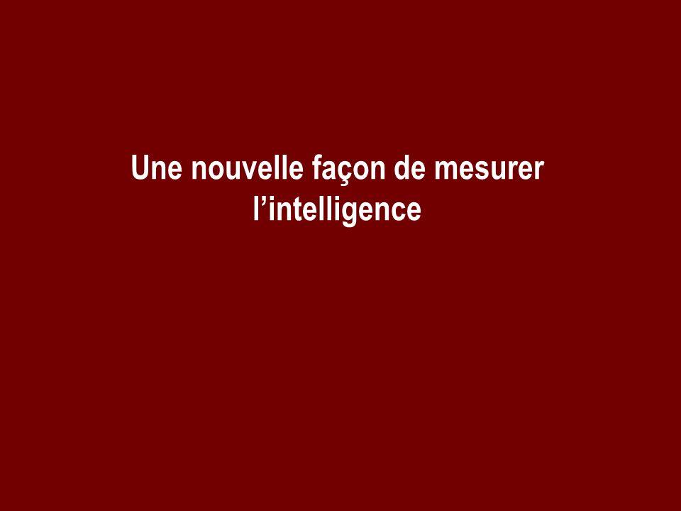 Une nouvelle façon de mesurer l'intelligence