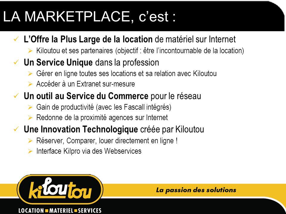 LA MARKETPLACE, c'est : L'Offre la Plus Large de la location de matériel sur Internet.
