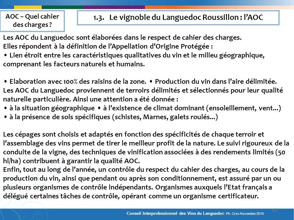 1.3. Le vignoble du Languedoc Roussillon : l'AOC