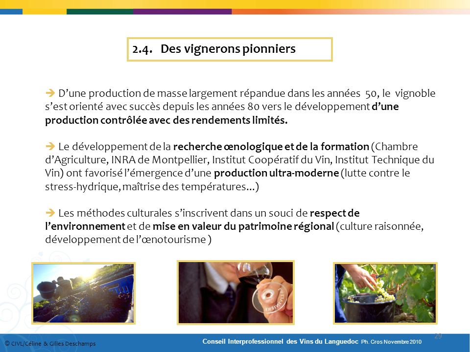 2.4. Des vignerons pionniers