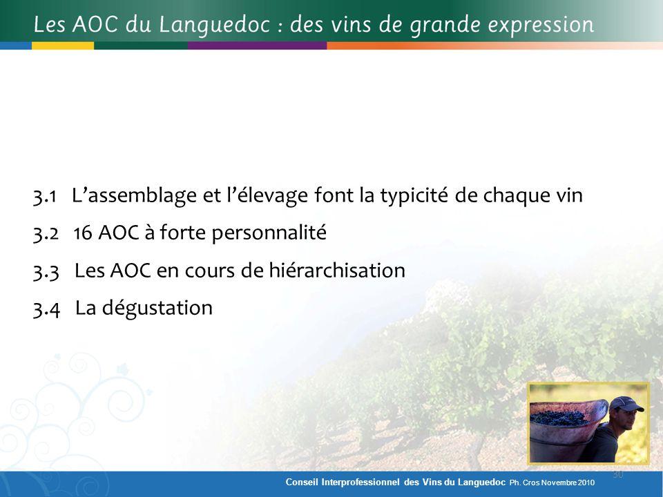 3.1 L'assemblage et l'élevage font la typicité de chaque vin