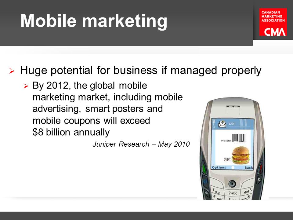 Mobile marketing Huge potential for business if managed properly