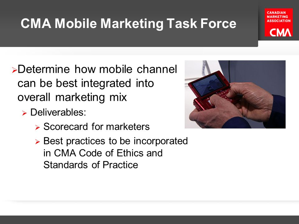 CMA Mobile Marketing Task Force