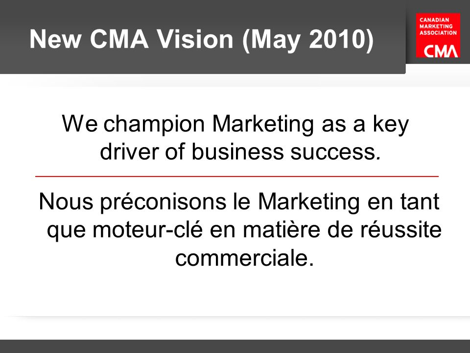 We champion Marketing as a key driver of business success.