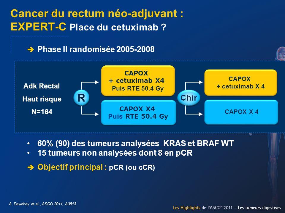 Cancer du rectum néo-adjuvant : EXPERT-C Place du cetuximab