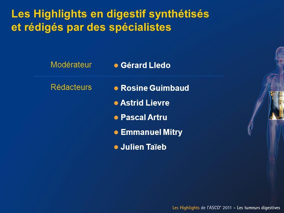 Les Highlights en digestif synthétisés et rédigés par des spécialistes